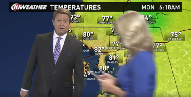 Blazing hot news anchor interrupts live weather forecast to Catch 'Em All